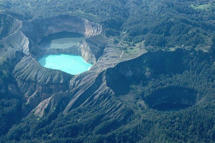 Indonesia's Tri-Colored Lakes