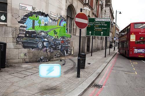 Badass street art for Activision Game BLUR  от Veggie за 26 oct 2012