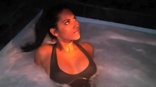 Olivia Munn in the Hot Tub