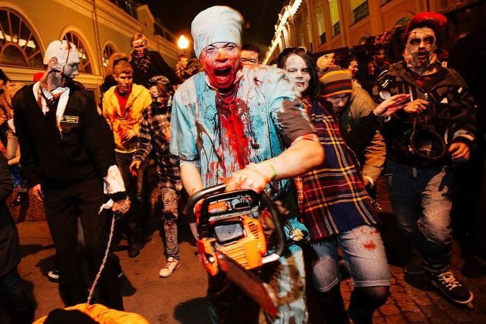 Zombie Walk in Saint-Petersburg