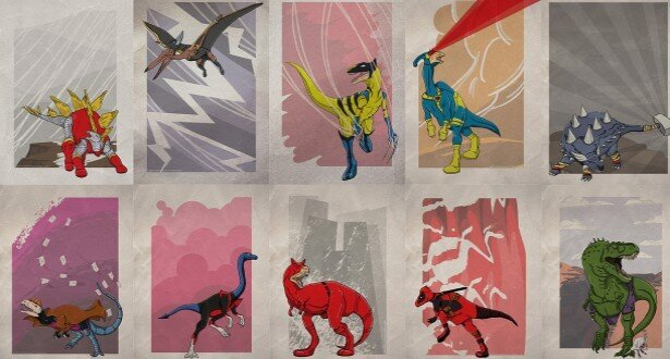 Superhero Dinosaurs  от Veggie за 30 oct 2012