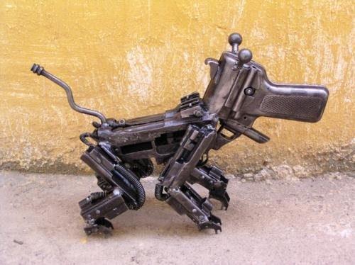 Gun art sculptures  от Veggie за 06 nov 2012