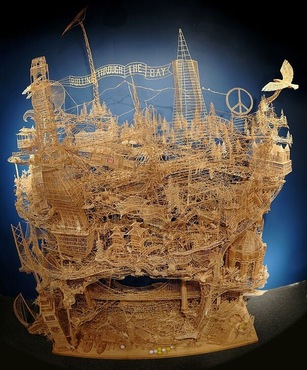 One Man and 100,000 Toothpicks от mick за 07 nov 2012