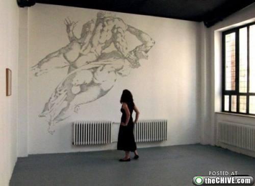 Baptiste Debombourg mural staple art