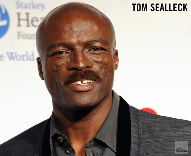 Celebrity Mustache Mashups от Kaye за 14 nov 2012