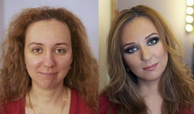 Russian Makeup: Before And After