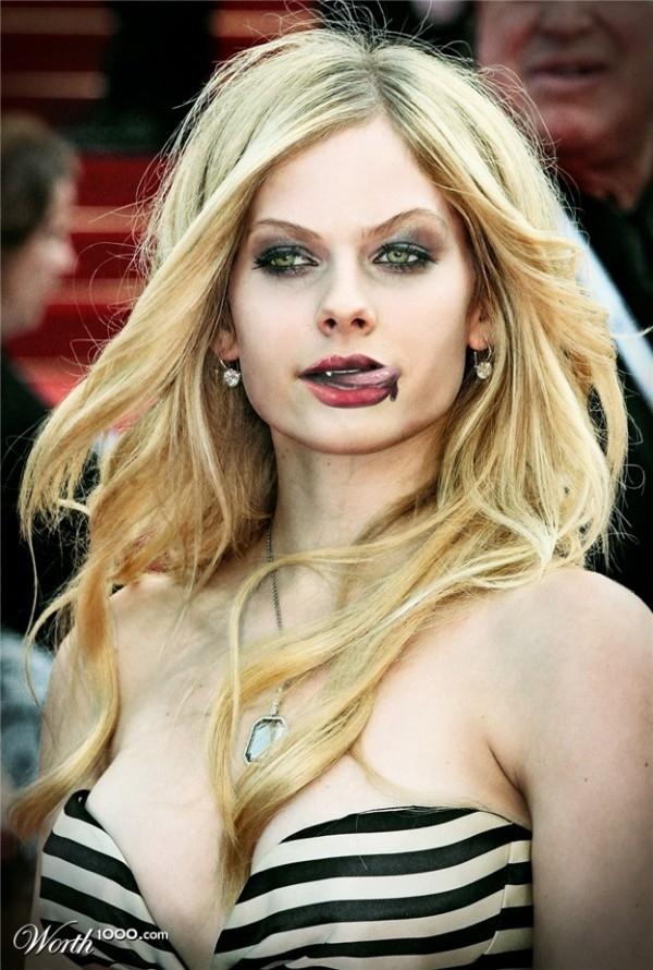 Terrifying Celebrities As Vampires!