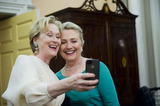 Meryl Streep And Hillary Clinton Hanging Out