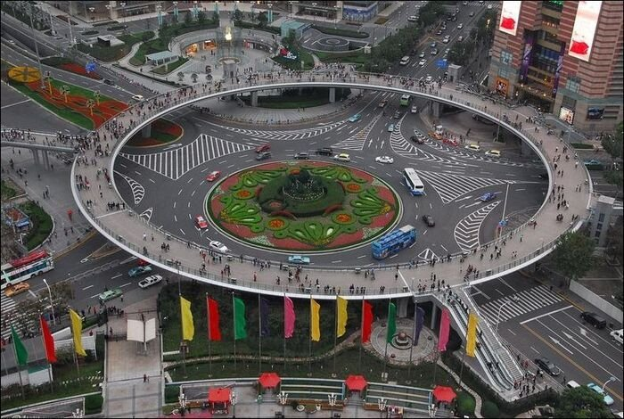 Chinese Circular Pedestrian Bridge