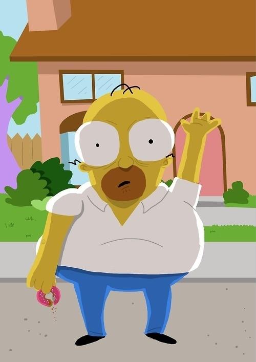 Bizarre Homer Simpson Portraits