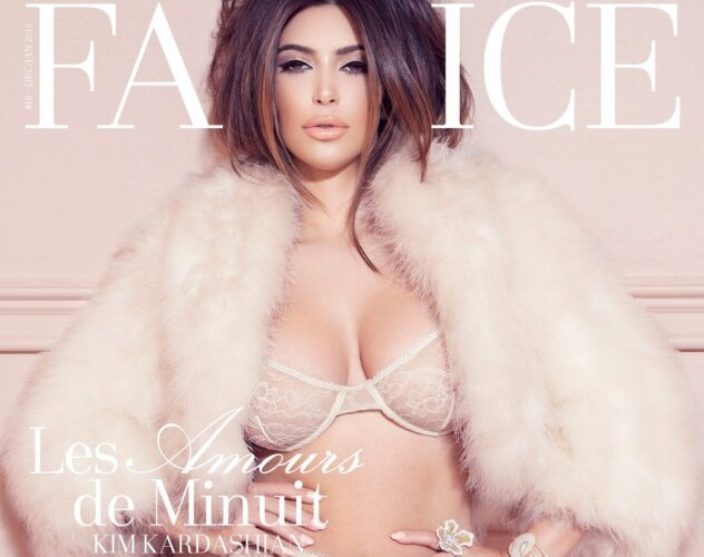 Kim Kardashian's Latest Lingerie Mag. Cover