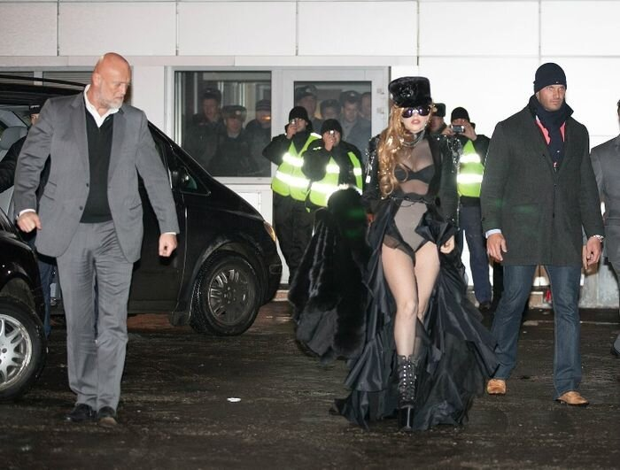Lady Gaga in Moscow