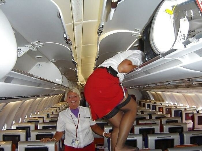Stewardesses Having Fun
