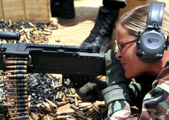 Girls in Military Uniform