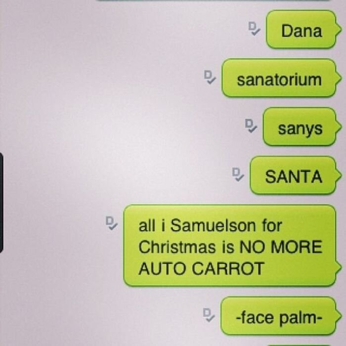 Funny Christmas Autocorrects