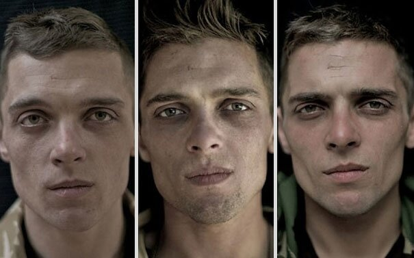 Soldier Portraits Before, During and After War