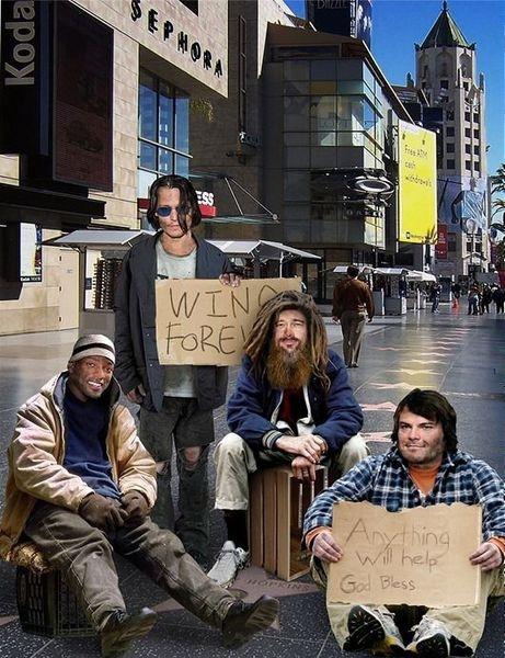 Homeless Celebs