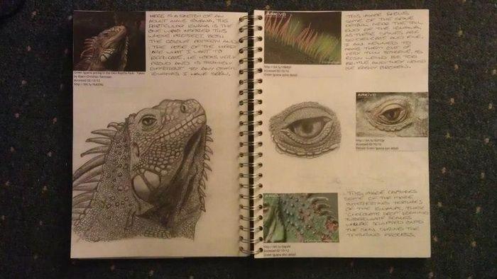 Hand-Made Iguana