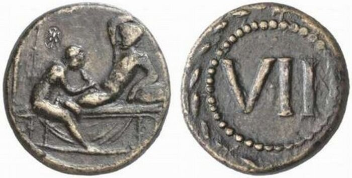 Ancient Roman Coins with Sex Scenes