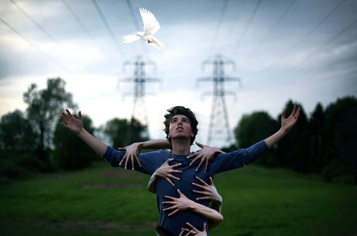 19-Year-Old's Dramatically Artistic Self-Portraits