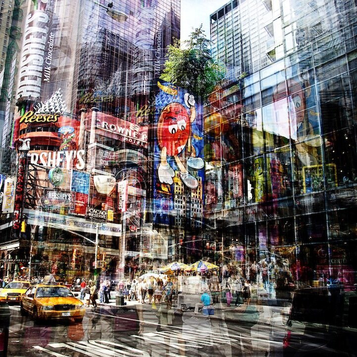Layers of Vibrant Movement in New York and Berlin