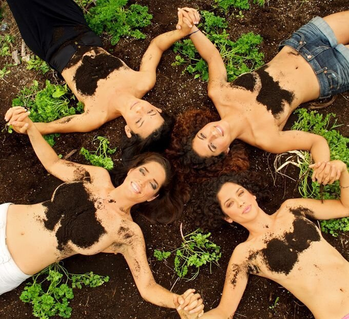 Calendar Features Scantily-Clad Women Covered In Manure