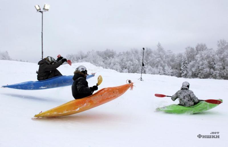 Snow Kayak Downhill Race