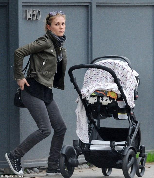 Anna Paquin's walk with children