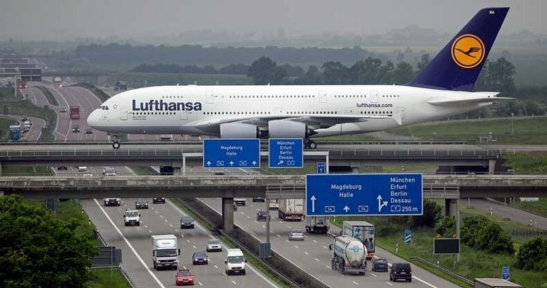 Runway Over The Highway at Leipzig/Halle Airport