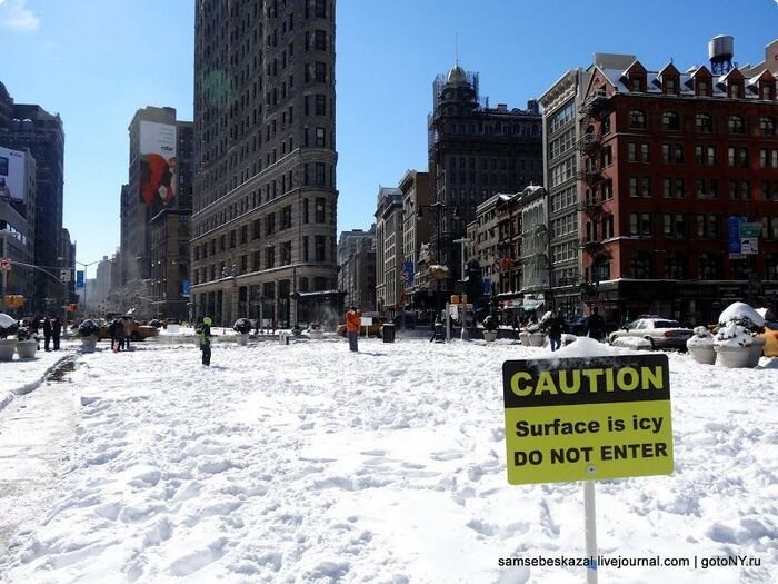 New York after Snow Storm