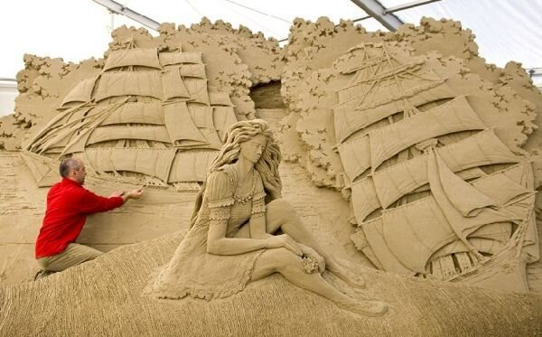 Staggering Sand Sculptures