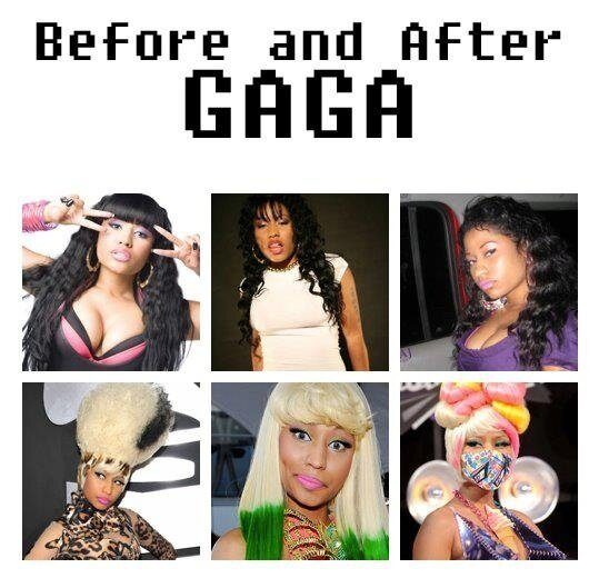 Popstars Before...And After Lady Gaga
