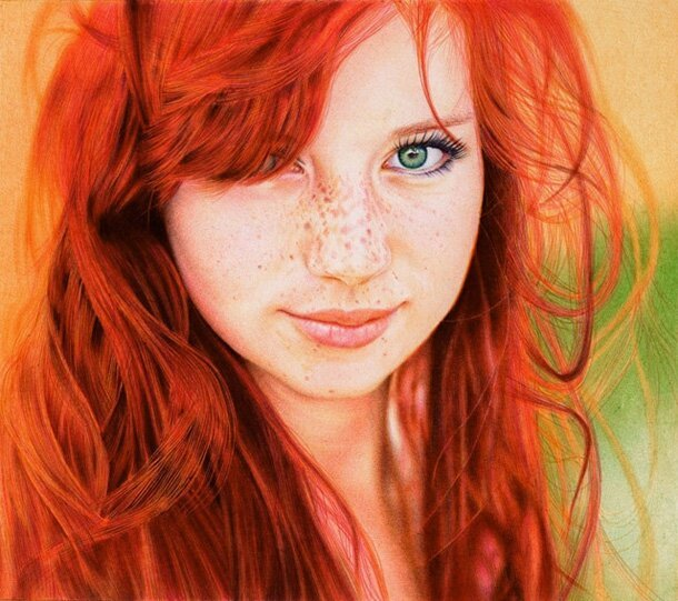 A Simply Stunning Photorealistic Pen & Ink Portrait
