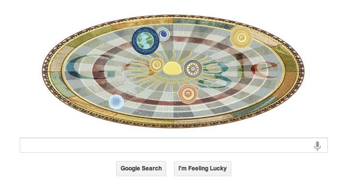 Google Celebrates Copernicus's 540th Birthday