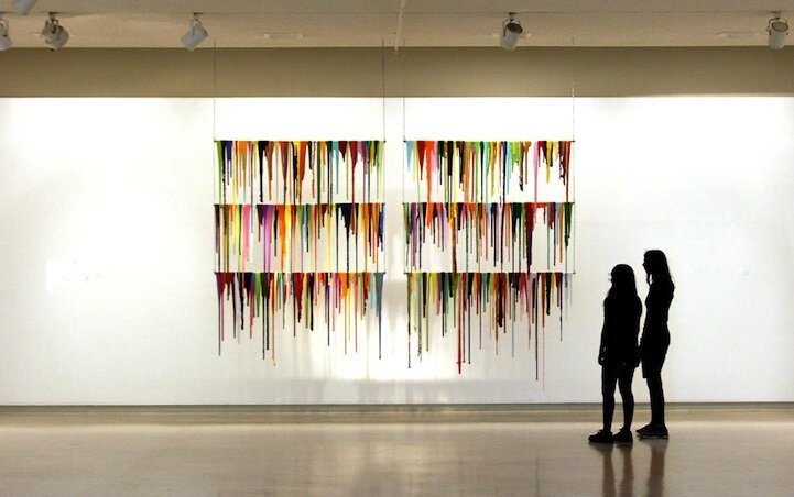 Vibrant Paint Spills Suspended in Mid-Air