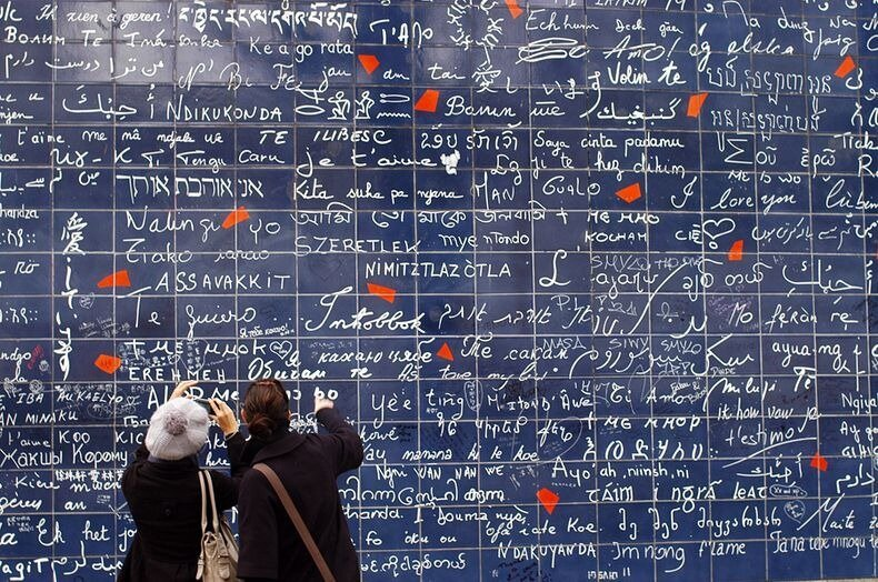 "The Wall of ""I Love You""s in Paris"