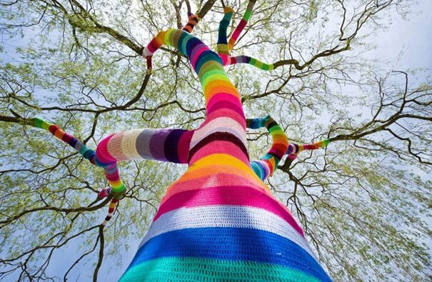 Colorful Examples of Yarn Bombing