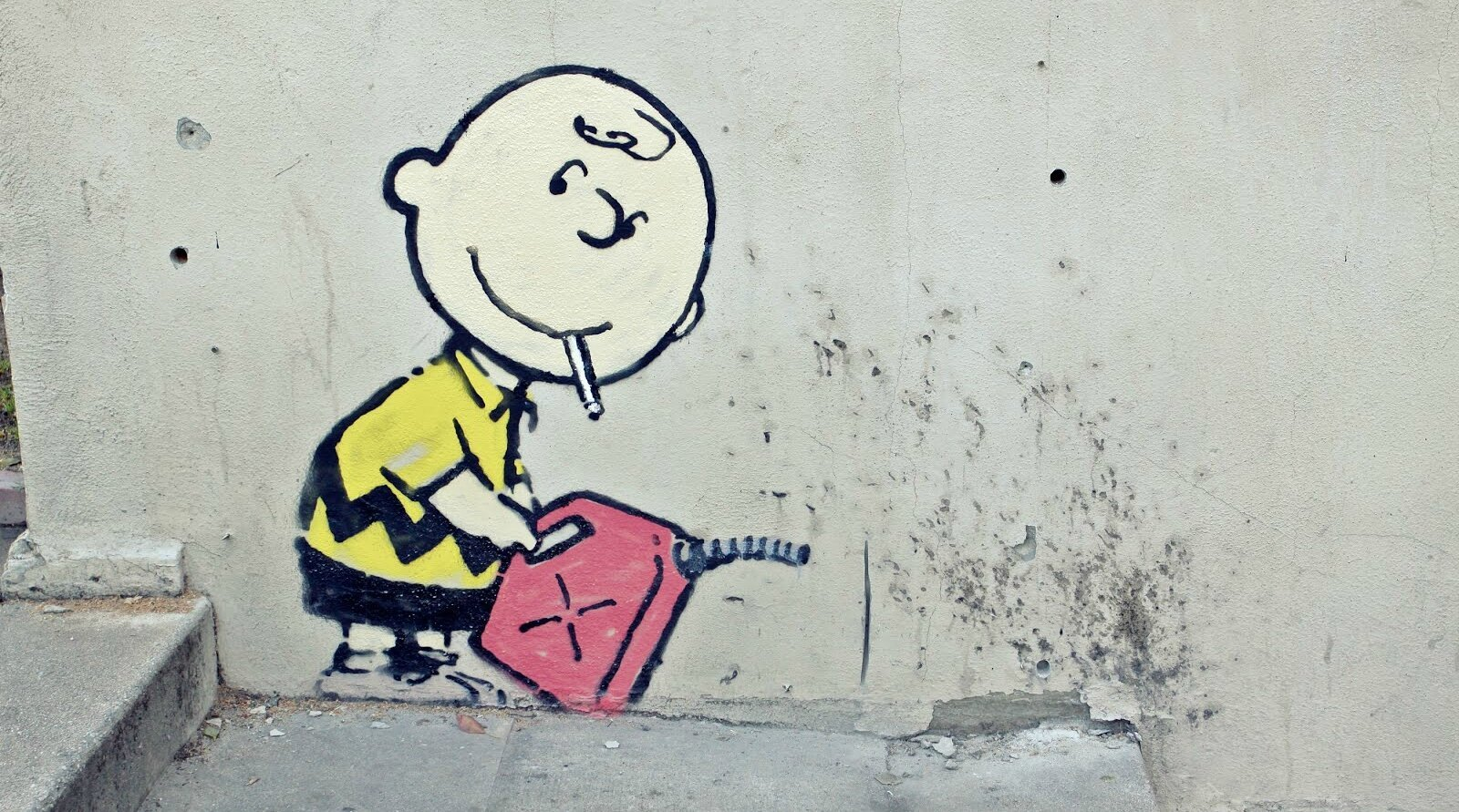 Check Out Banksy the Mystery Street Artist