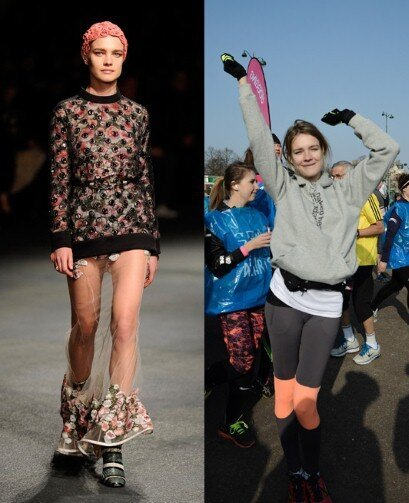 Vodianova Runs Marathon and then Struts the Catwalk for Paris Fashion Week
