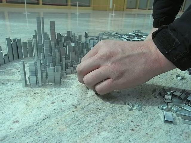 A City Made Of 100,000 Staples