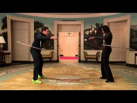 Michelle Obama and Jimmy Fallon Fitness Competition