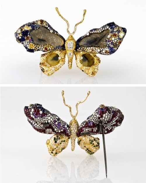 A 77 Carat Butterfly Brooch Is Out Of This World.