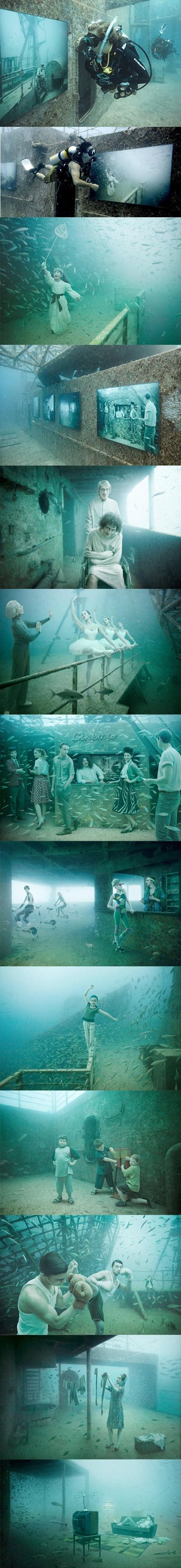 Astounding Wrecked Ship Underwater Art Gallery.