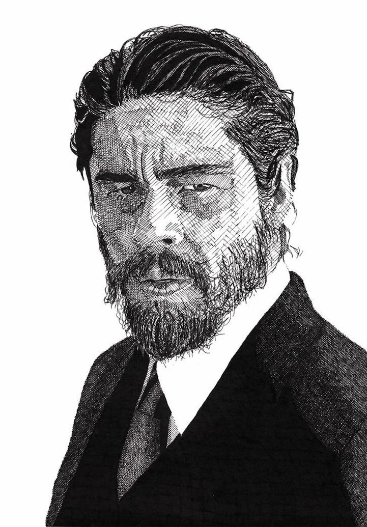 Hand Drawn Celebrity Portraits by Rik Reimert