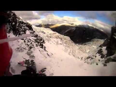 Scary First Person Footage Of Ice Climber Falling 100 Feet