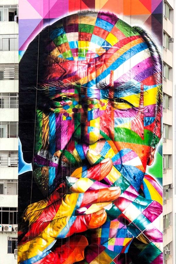 Phenomenal Brazilian Street Mural As Tall As A Skyscraper