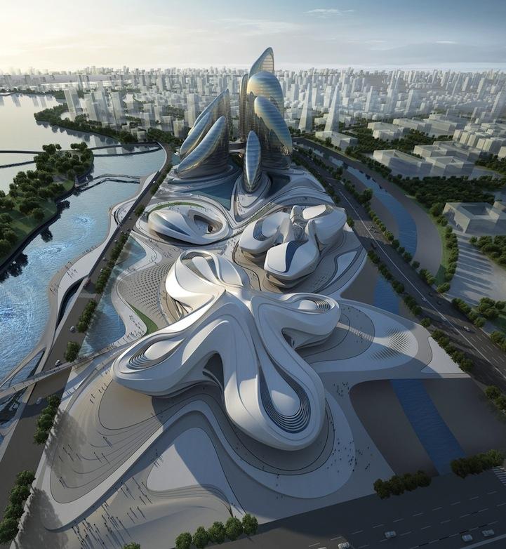 Zaha Hadid's Modern Art Center Unveiled in China