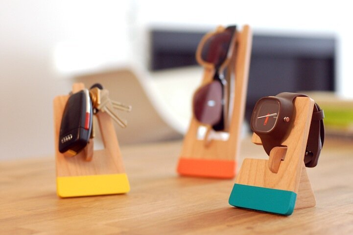 "Modern Wooden ""Houses"" Keep Objects Organized"
