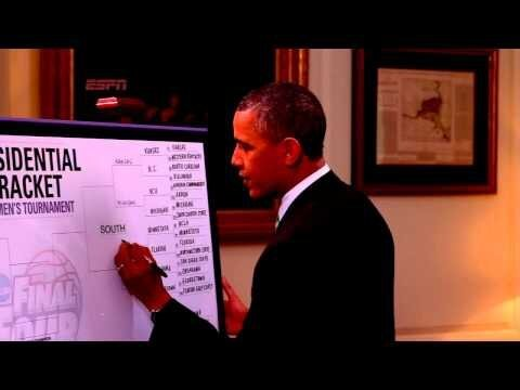 President Obama Makes His Selections For The NCAA Tournament