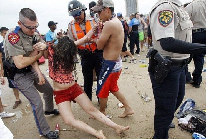 Trashy Spring Break on South Padre Island, Texas